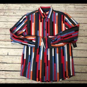 Alfani Men's 90's inspired button down shirt color